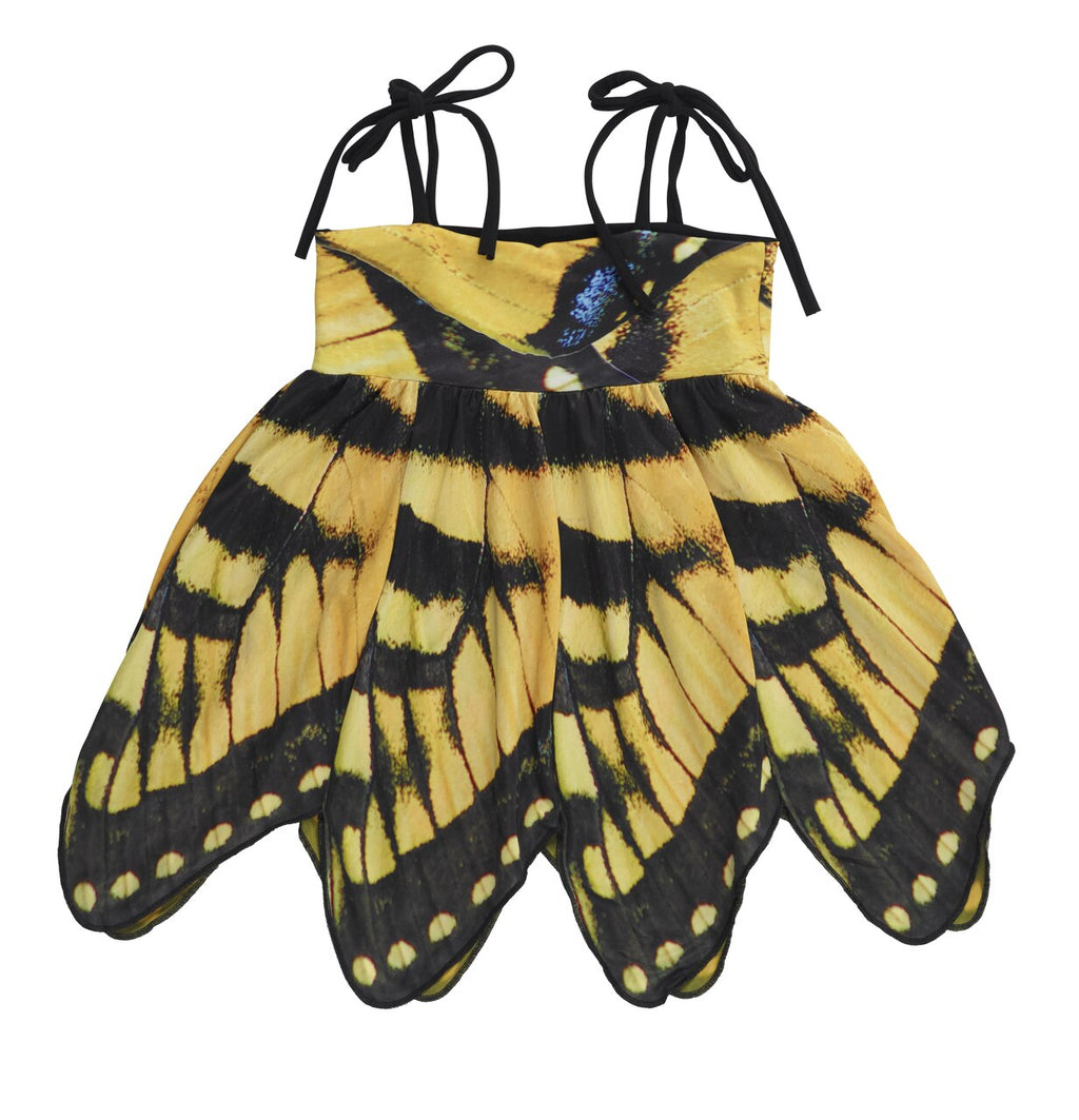 Kid's Yellow Swallowtail Butterfly Dress - Asheville Apparel