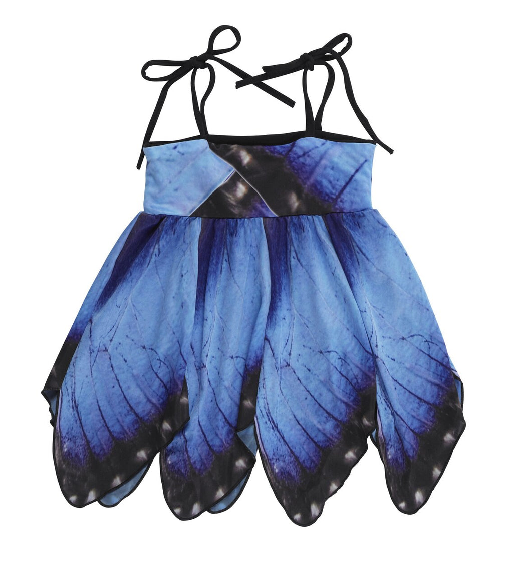 Kid's Blue Morpho Butterfly Dress - Asheville Apparel