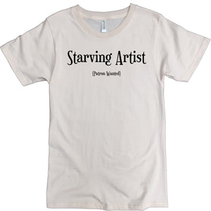 Men's Organic Cotton Classic Crewneck Tee - Starving Artist Graphic - USA Made