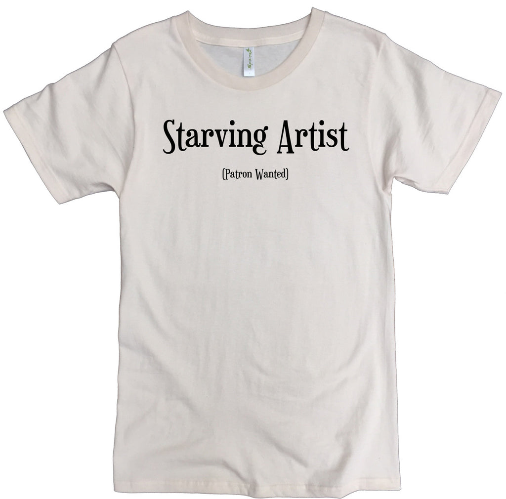 Men's Organic Cotton Classic Crewneck Tee - Starving Artist Graphic - USA Made - Asheville Apparel
