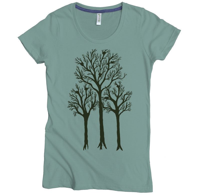 Trees With Nests Tee - Asheville Apparel