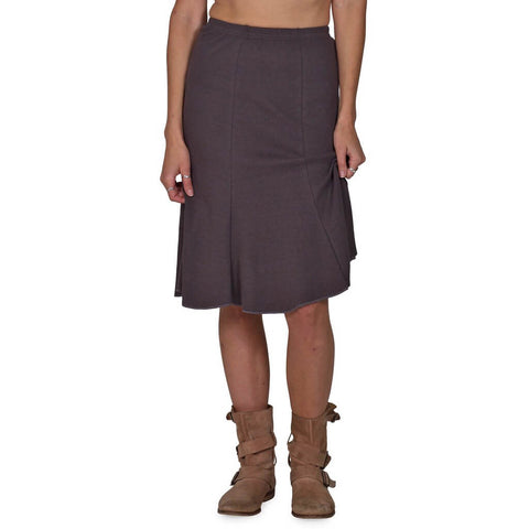 Women's Organic Cotton Bell Skirt - Graphite - USA Made