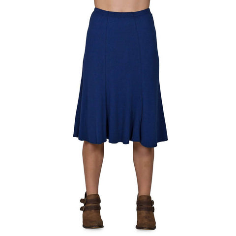 Women's Organic Cotton Bell Skirt - Marine - USA Made