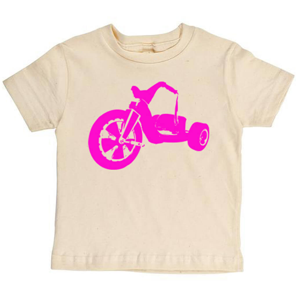 Pink Big Wheel Youth Tee - Asheville Apparel