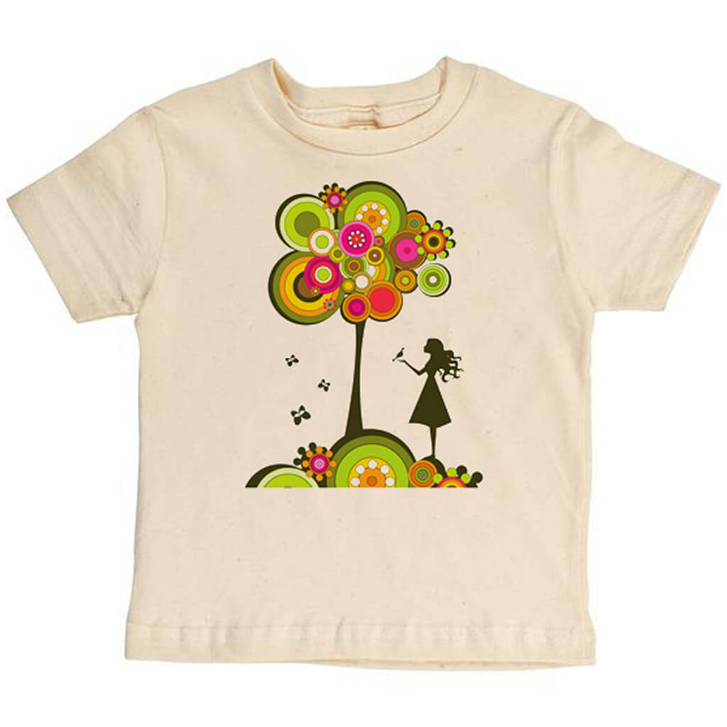 Girl With Tree Youth Tee - Asheville Apparel