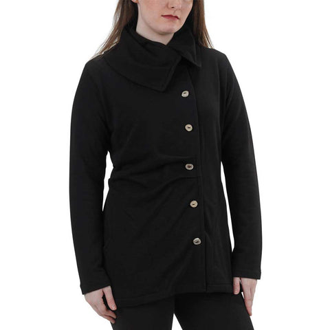 Women's Organic Cotton Balsam Tuck Jacket - Black - USA Made