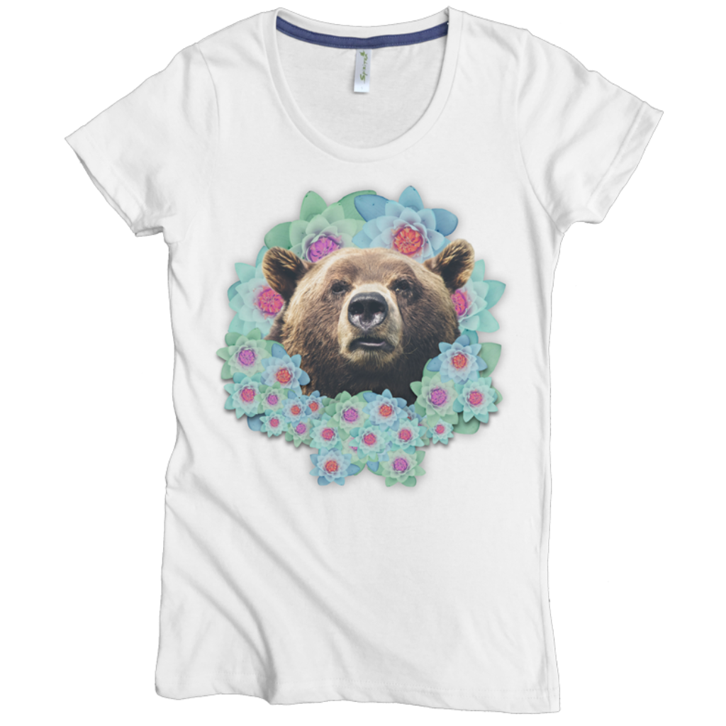Bear Flower Tee - Asheville Apparel