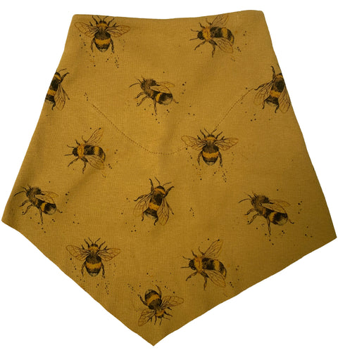 Adult | Organic Cotton | Filter Infinity Bandana | Bee  | Honey | USA Made