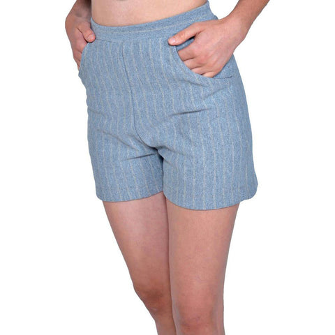 Betty Hi Waist Shorts | 50/50 Heather Grey Stripe