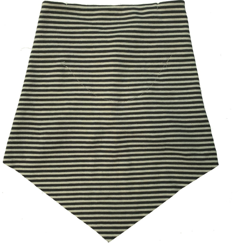 Adult | Organic Cotton | Filter Infinity Bandana | Charcoal Mini Stripe | USA Made