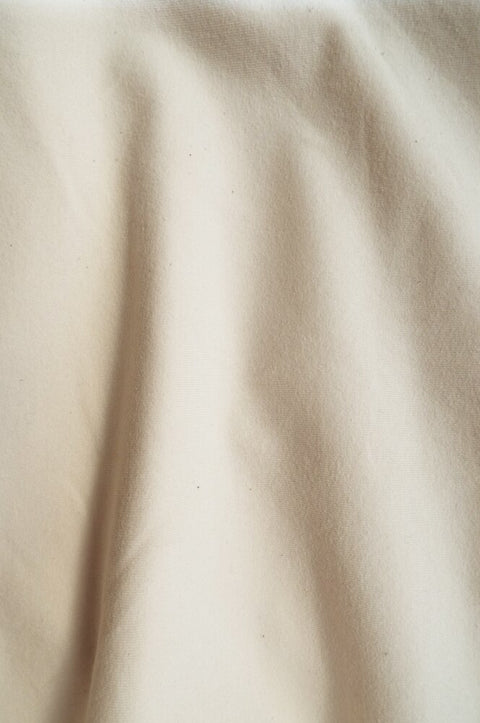 "20874 | Medium Weight Cotton Spandex Jersey | Natural Undyed | 90/10 Organic Cotton/Spandex | 58-60"" Open Width 