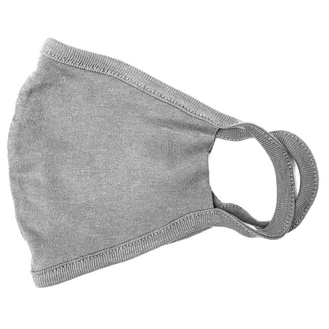 Organic Cotton Ear Loop Knit Mask | Heather Grey | USA Made