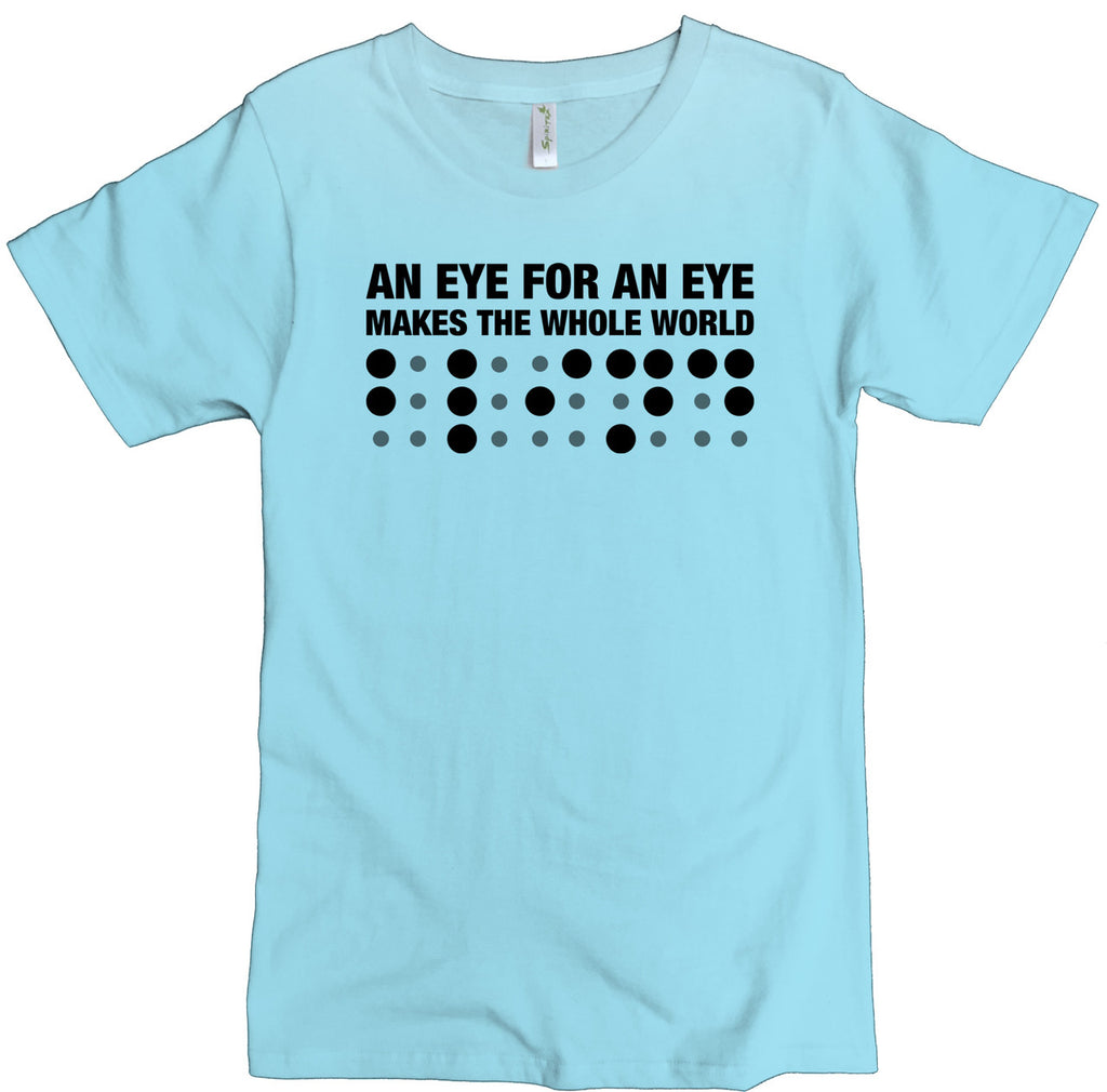 Men's Organic Cotton Classic Crewneck Tee - Eye For An Eye Graphic - USA Made - Asheville Apparel