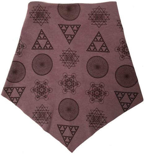 Adult | Organic Cotton | Filter Infinity Bandana | Geometric Solids | Muted Mauve | USA Made