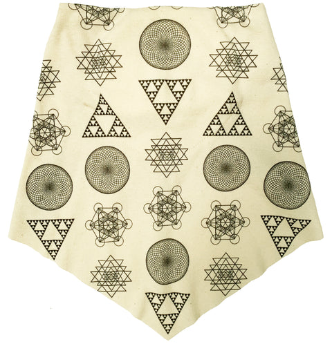 Adult | Organic Cotton | Filter Infinity Bandana | Geometric Solids | Natural | USA Made