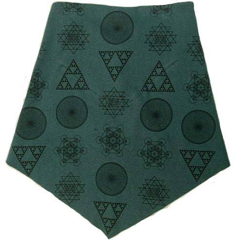 Adult | Organic Cotton | Filter Infinity Bandana | Geometric Solids | Hydro | USA Made