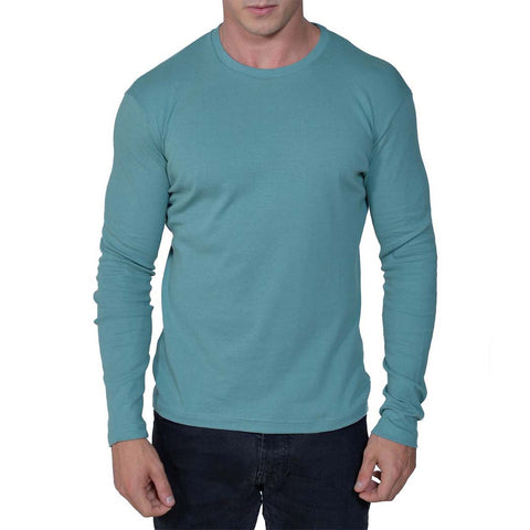 Long Sleeve Perfect Crewneck Tee | Smokey Teal