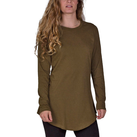 Long Sleeve Tunic Tee | Dark Olive