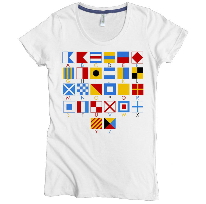 Nautical Alphabet Tee - Asheville Apparel