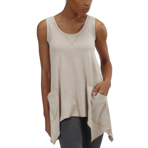 Women's Organic Cotton Jenna Hippie Tank Top - Sand - USA Made