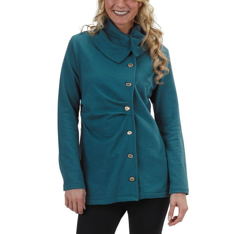 Women's Organic Cotton Balsam Tuck Jacket - Flemish Blue - USA Made