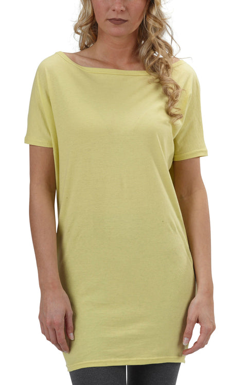 Women's Organic Cotton Short Sleeve Dolman Tee - Lime - USA Made