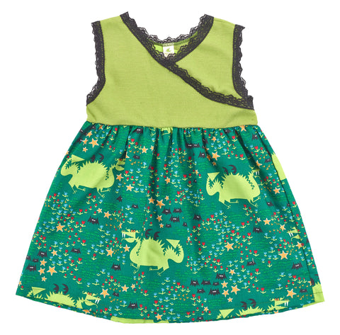 Organic Cotton Kid's Dragon Dress - Asheville Apparel