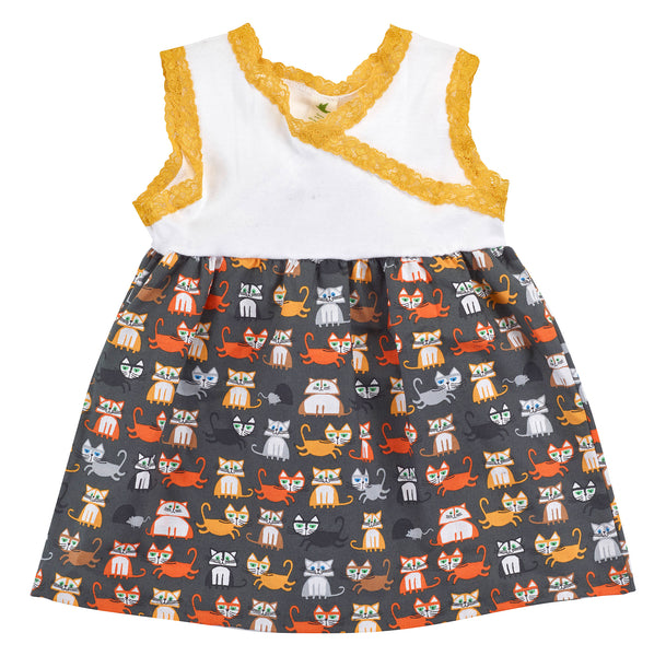 Organic Cotton Kid's Kitty Cat Dress - Asheville Apparel