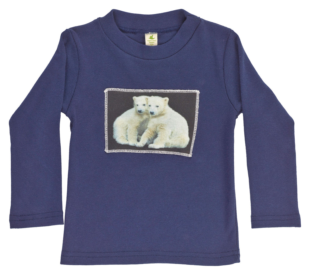 Organic Kid's Polar Bear Buds Long Sleeve Tee - Asheville Apparel