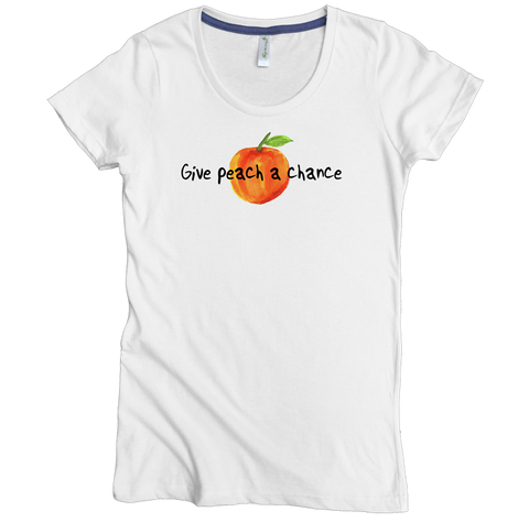 Give Peach A Chance Tee - Asheville Apparel