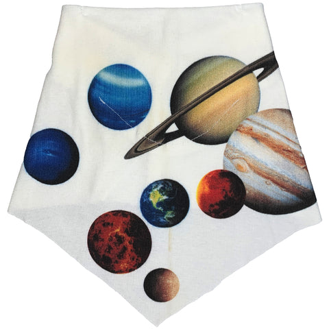 Adult | Organic Cotton | Filter Infinity Bandana | Planets | Natural | USA Made