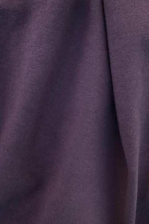 "20874 | Medium Weight Cotton Spandex Jersey | Plum | 90/10 Organic Cotton/Spandex | 58-60"" Open Width 