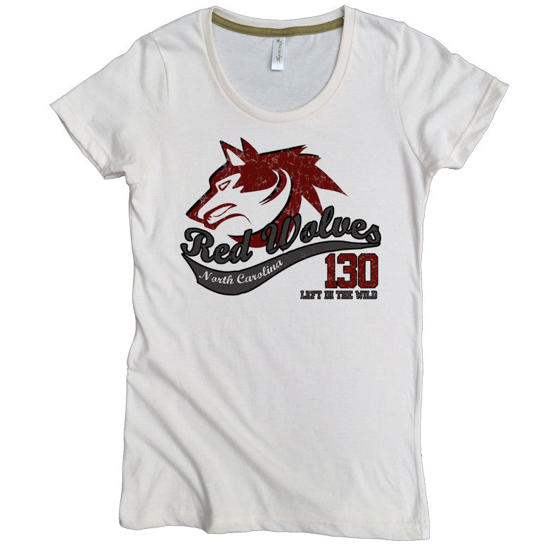 Endangered Red Wolf Tee - Asheville Apparel