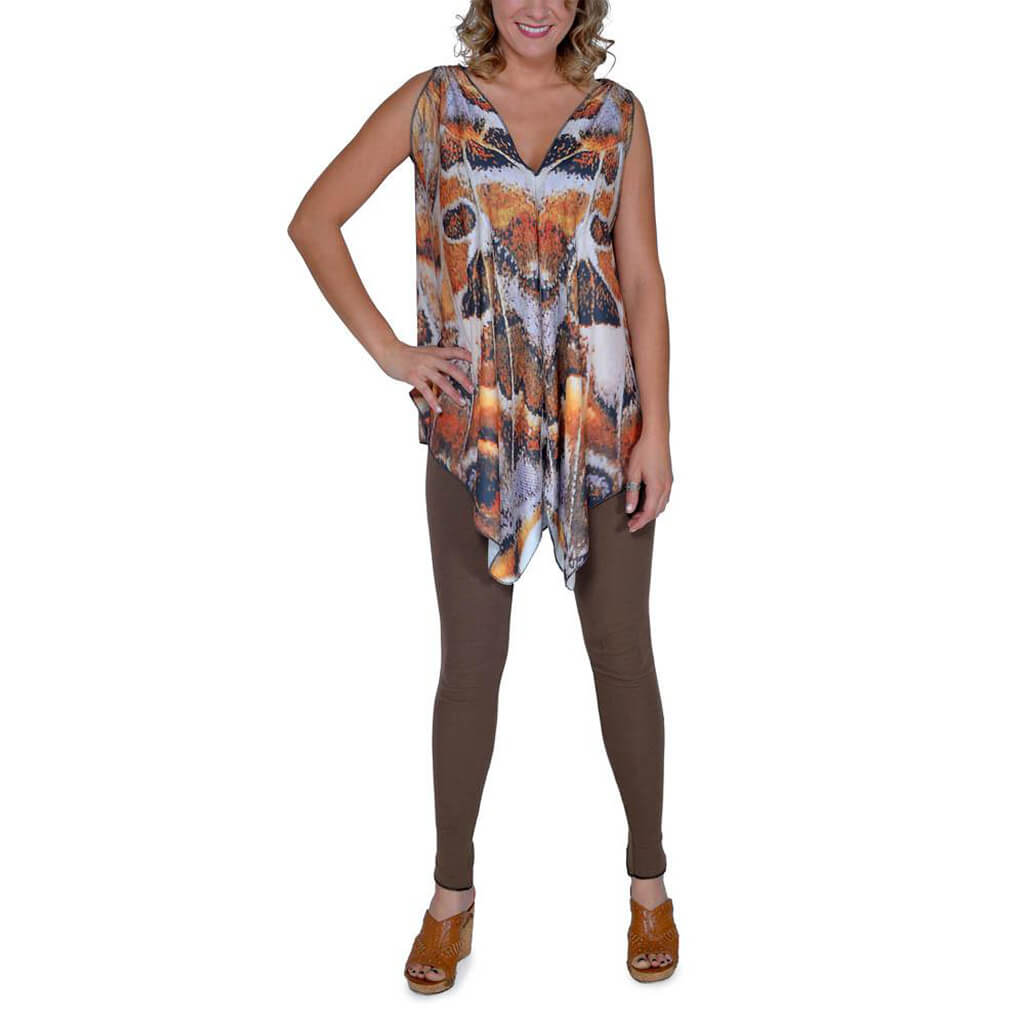 Cheetah Butterfly Tunic - Asheville Apparel