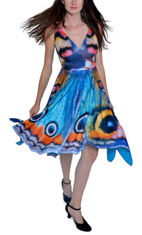 Watercolor Butterfly Dress - Asheville Apparel