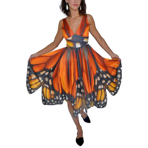Monarch Butterfly Dress - Asheville Apparel