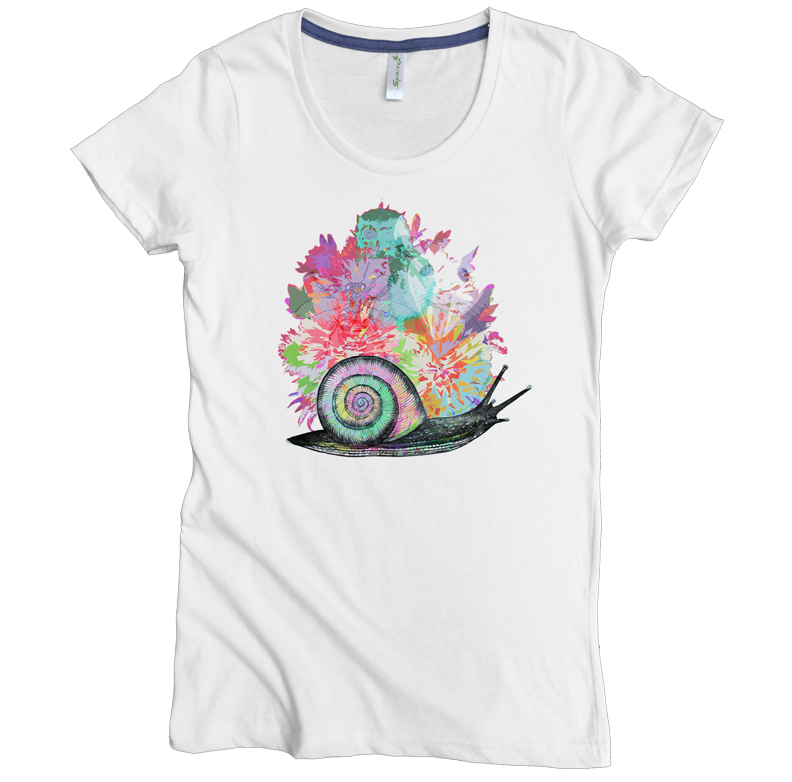 Snail Bouquet Tee - Asheville Apparel