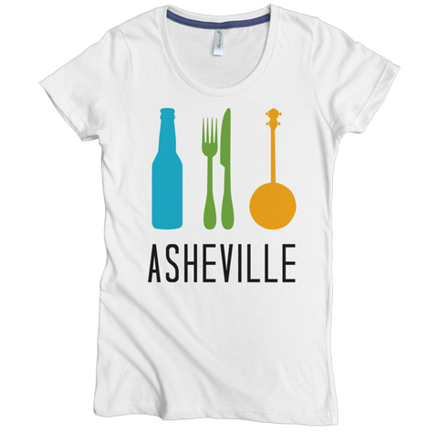 Beer Food Banjo Tee - Asheville Apparel