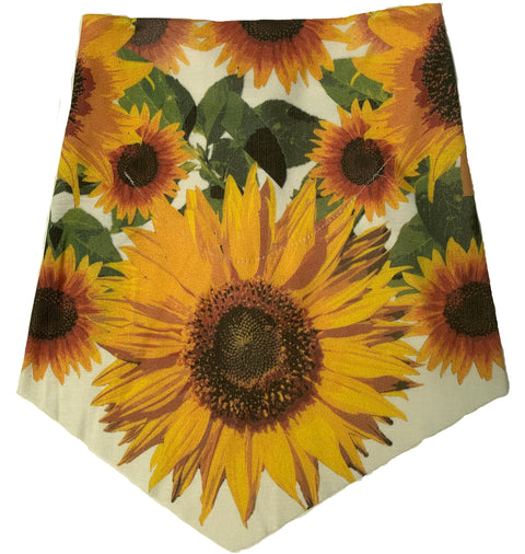 Adult | Organic Cotton | Filter Infinity Bandana | Sunflower | Natural | USA Made