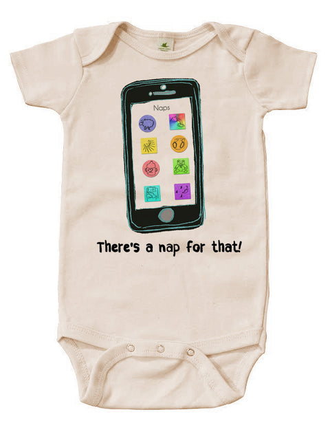 There's A Nap For That | Organic Cotton | Short Sleeve Baby Bodysuit | Natural | USA Made