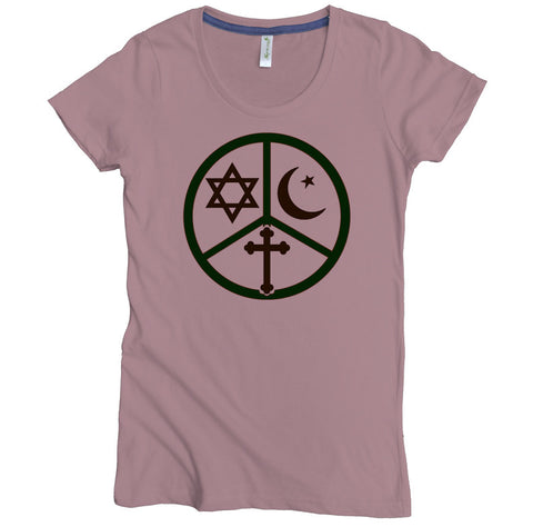 Tri Peace Sign Tee - Asheville Apparel