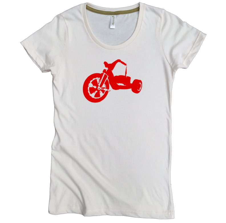 Red Big Wheel Tee - Asheville Apparel
