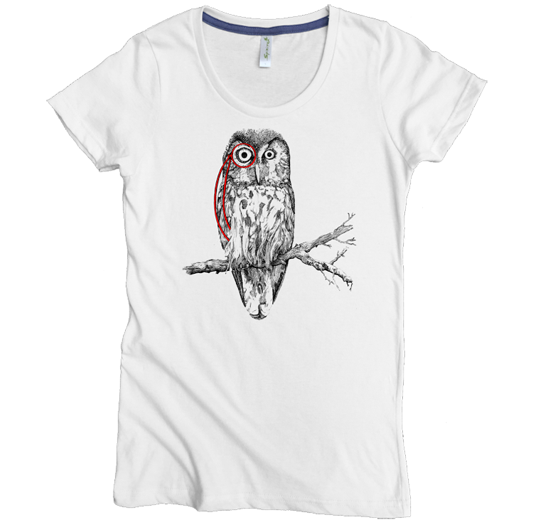 Owl with Monocle Tee - Asheville Apparel
