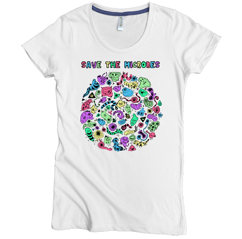Save The Microbes Tee - Asheville Apparel