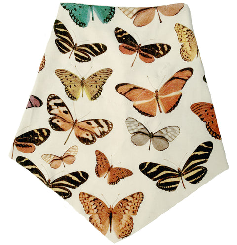 Adult | Organic Cotton | Filter Infinity Bandana | Watercolor Butterfly | Natural | USA Made