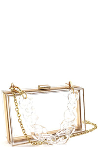 Boujie Box Clutch - Clear