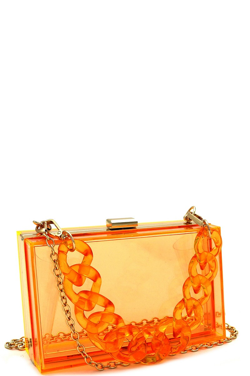 Boujie Box Clutch - Orange