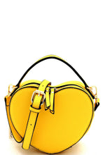 Load image into Gallery viewer, Heart Shoulder Bag - Yellow