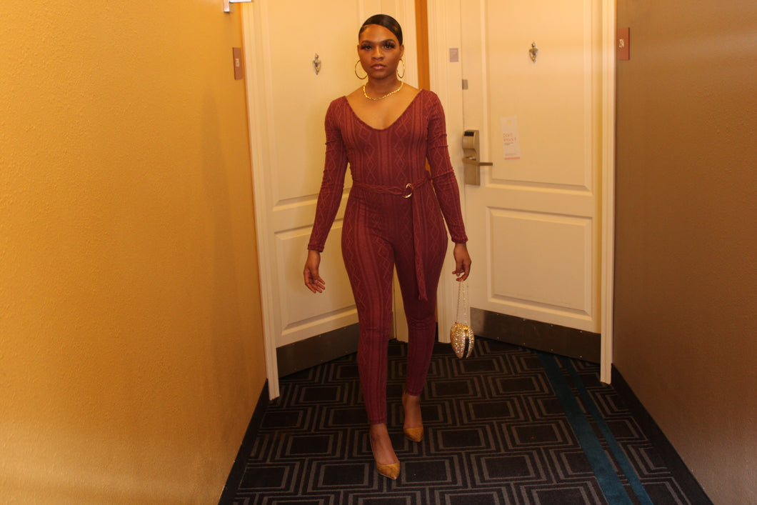 Cable Knit Jumpsuit