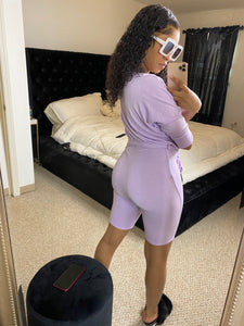 Here for the Vibes Romper - purple